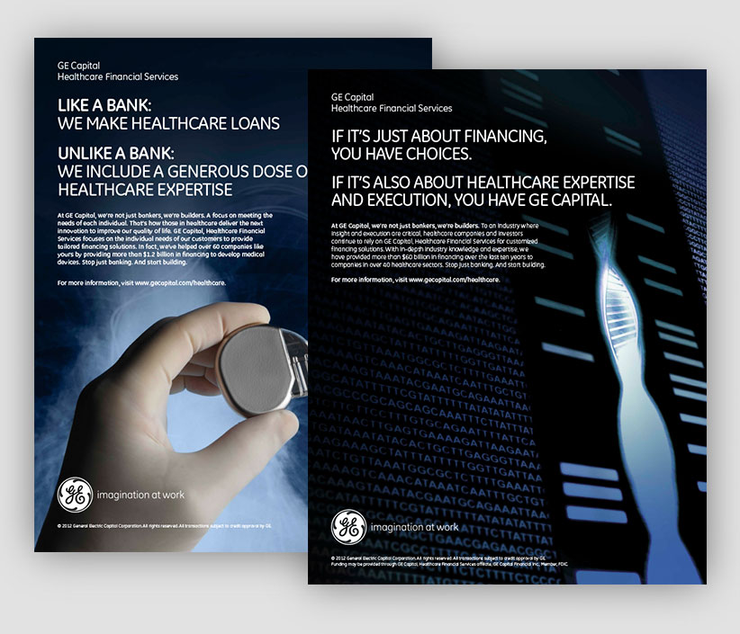 GE Capital Healthcare Financial Services 2012 Print Ad