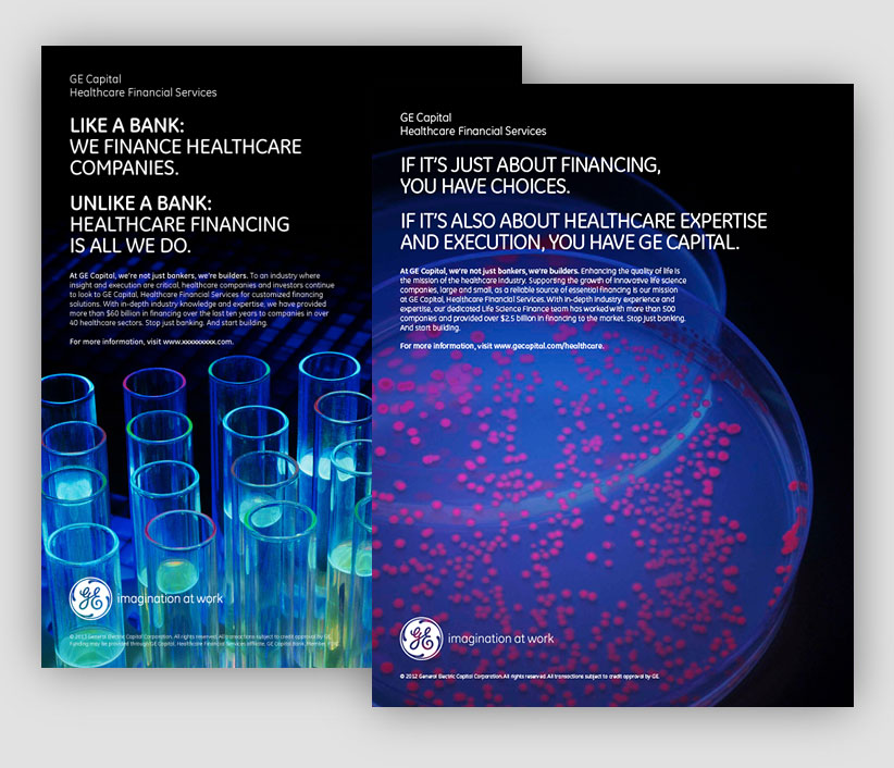 GE Capital Healthcare Financial Services Print Ad